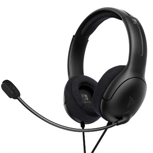 PDP LVL40 Wired Stereo Headset for Nintendo Switch - Black