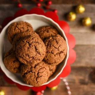 Paleo Almond Butter Ginger Cookies.