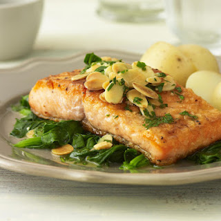 Trout with Almonds and Spinach