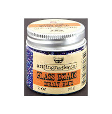 Prima Finnabair Art Ingredients Glass Beads 56gr -  Cobalt Blue