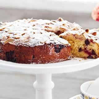 Raspberry, Chocolate And Almond Tea Cake.
