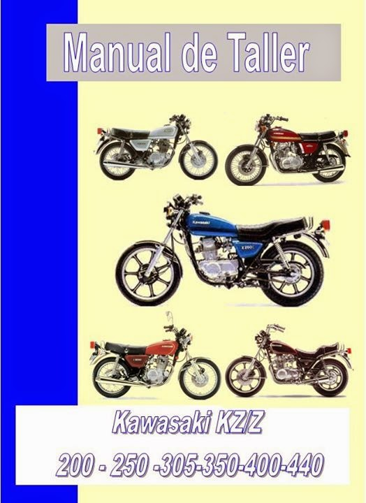 kawasaki kz 440 manual-taller-servicio-despiece