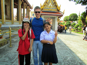 Photo: These girls asked to pose for pictures with me. Then I asked them for a picture on my camera.