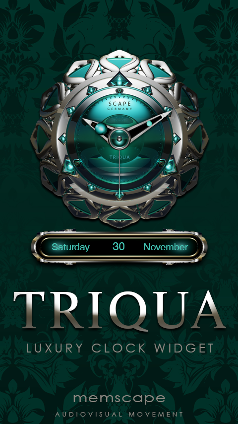 TRIQUA Analog Clock Widget- screenshot