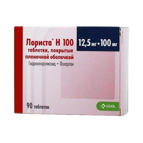 Лориста Н 100 таб.п/о плен. 12,5мг+100мг №90