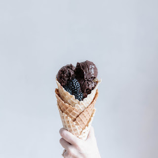 Blackberry Chocolate Truffle Ice Cream