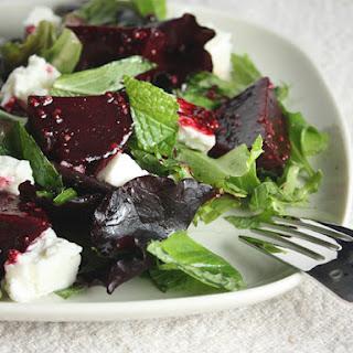 Roasted Beet, Mint and Feta Salad