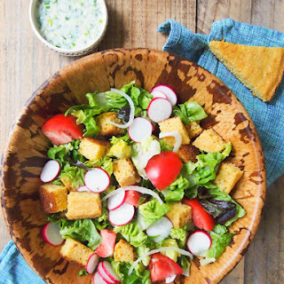 Cornbread Salad with Buttermilk Lime Dressing