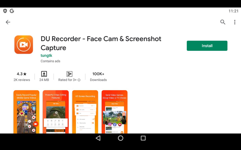 DU Recorder app on PC