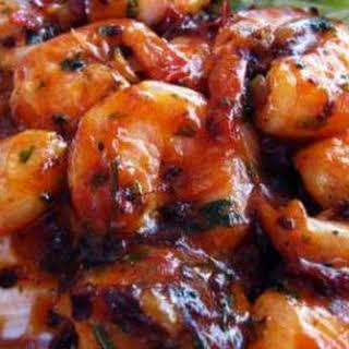 Camarones Enchipotlados (Shrimp in Chipotle Sauce).