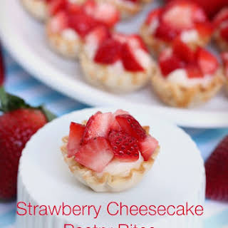 Amazing Strawberry Cheesecake Pastry Bites.