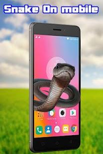 Snake on Mobile Screen Joke - náhled