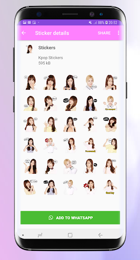 Stickers for whatsapp kpop - WAStickerApps Pro 1.3 screenshots 8