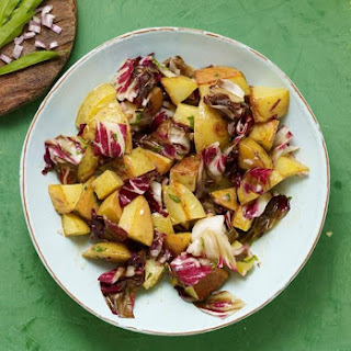Grilled Potato and Radicchio Salad with Dijon Tarragon Vinaigrette.