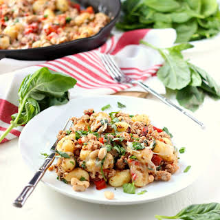 Gnocchi with Turkey and White Beans.