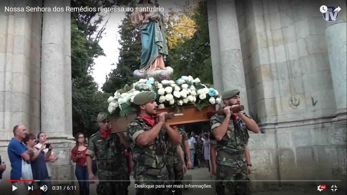 Vídeo - Nossa Senhora dos Remédios regressa ao Santuário