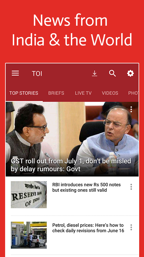 News by The Times of India- screenshot