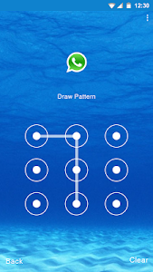 Blue Water Applock theme screenshot 4