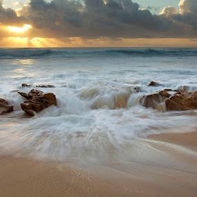Sunrise by Tony Wilson - Landscapes Waterscapes ( south africa, kzn, seascape, sunrise, cape vidal )