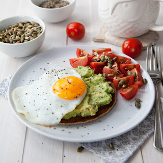 Oat Pancake With Avocado And Egg.