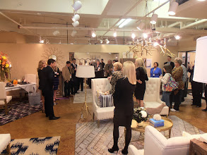 Photo: Donny and Debbie Osmond greet visitors at a breakfast celebrating the launch of the new Donny Osmond Home Collection, AmericasMart Atlanta, January 2014.