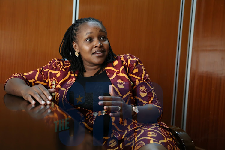 Gilgil MP Martha Wangari during a past interview at her office.