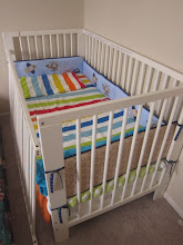 Photo: IKEA baby crib $55 mattress $25 bumper$5 All together $80 Available in June