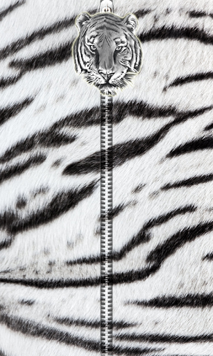 White Tiger Zipper UnLock