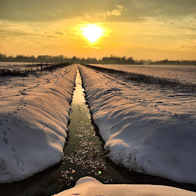 by Ivana Tilosanec - Landscapes Prairies, Meadows & Fields ( water, winter, nature, sunset, snow,  )