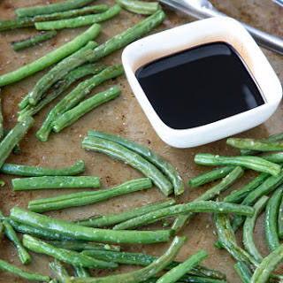 Oven Roasted Balsamic Green Beans