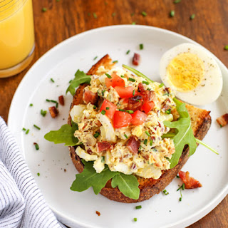 Breakfast Egg Salad with Bacon.