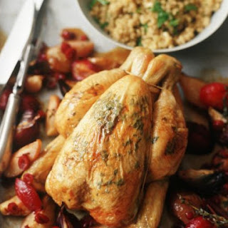 Roast Chicken with Stone Fruit.