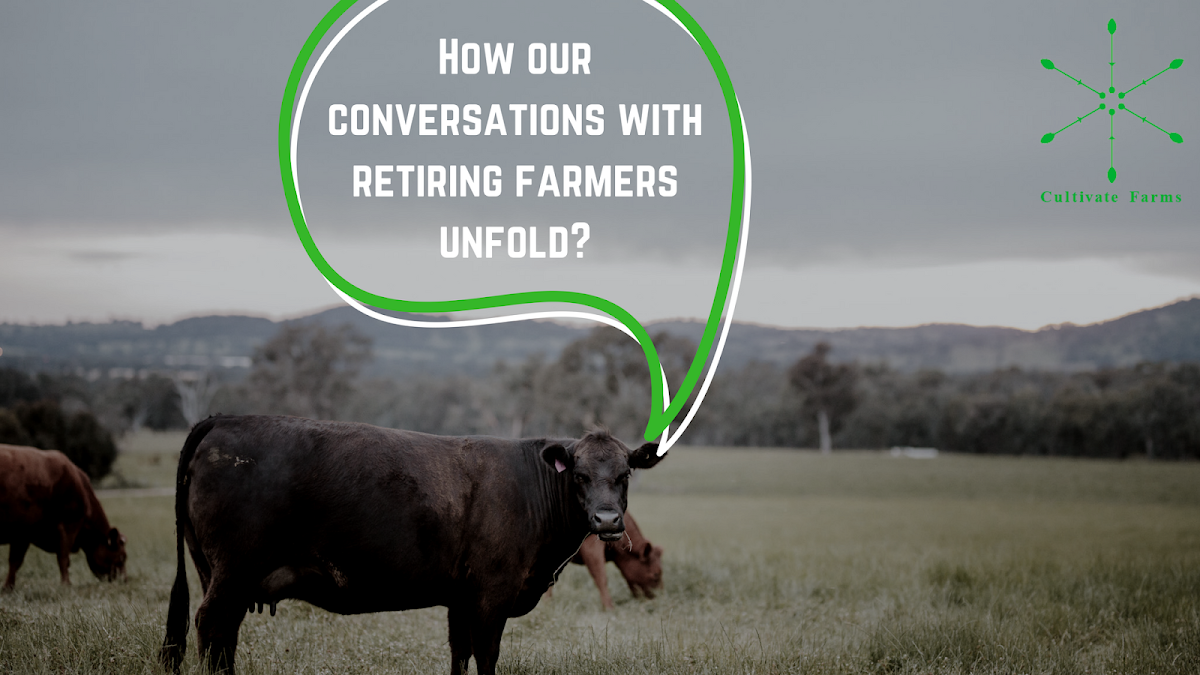 How our conversations with retiring farmers unfold?