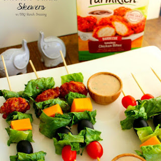 Barbecue Chicken Salad Skewers
