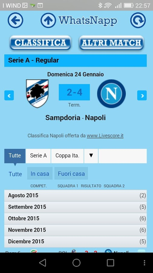 WhatsNapp - Napoli informa...- screenshot
