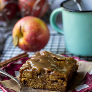 Caramel Glazed Apple Butter Blondies.