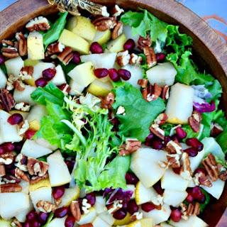 Harvest Salad with Asian Pears & Dijon Vinaigrette.