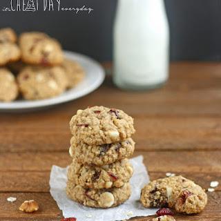 White Chocolate Walnut Cranberry Cookies