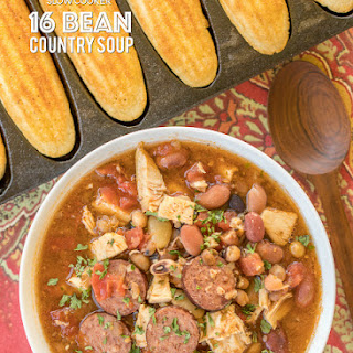 Slow Cooker 16 Bean Country Soup.