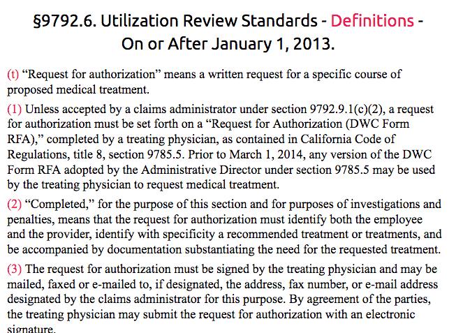 Regulation 9792.6.1 Request for Authorization