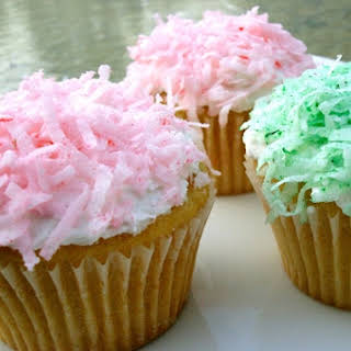 Fluffy Coconut Cupcakes.