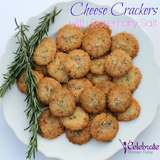 Cheese Crackers with Rosemary Salt