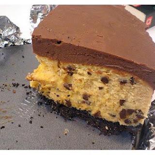 Peanut Butter Chocolate Chip Cheesecake.