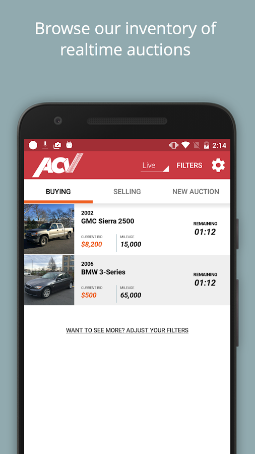 ACV Auctions Wholesale Handled- screenshot