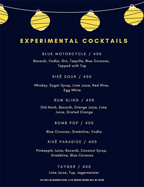 Rike- Terrace Bar & Grill menu 8