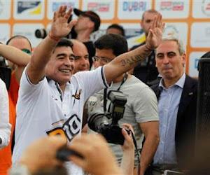 Diego Maradona s'est adressé aux supporters de Gimnasia La Plata