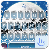 Live 3D Snowy Christmas Keyboard Theme