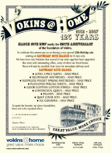 Vokins 125 years advert