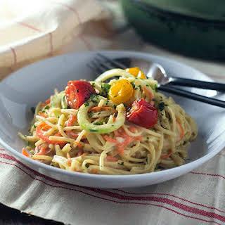 Vegan Gluten Free Spaghetti Alfredo.