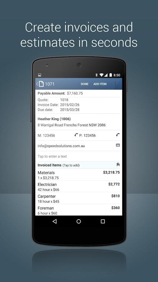 Invoice App - Invoicing Generator & Estimate Maker - Android Apps ...
